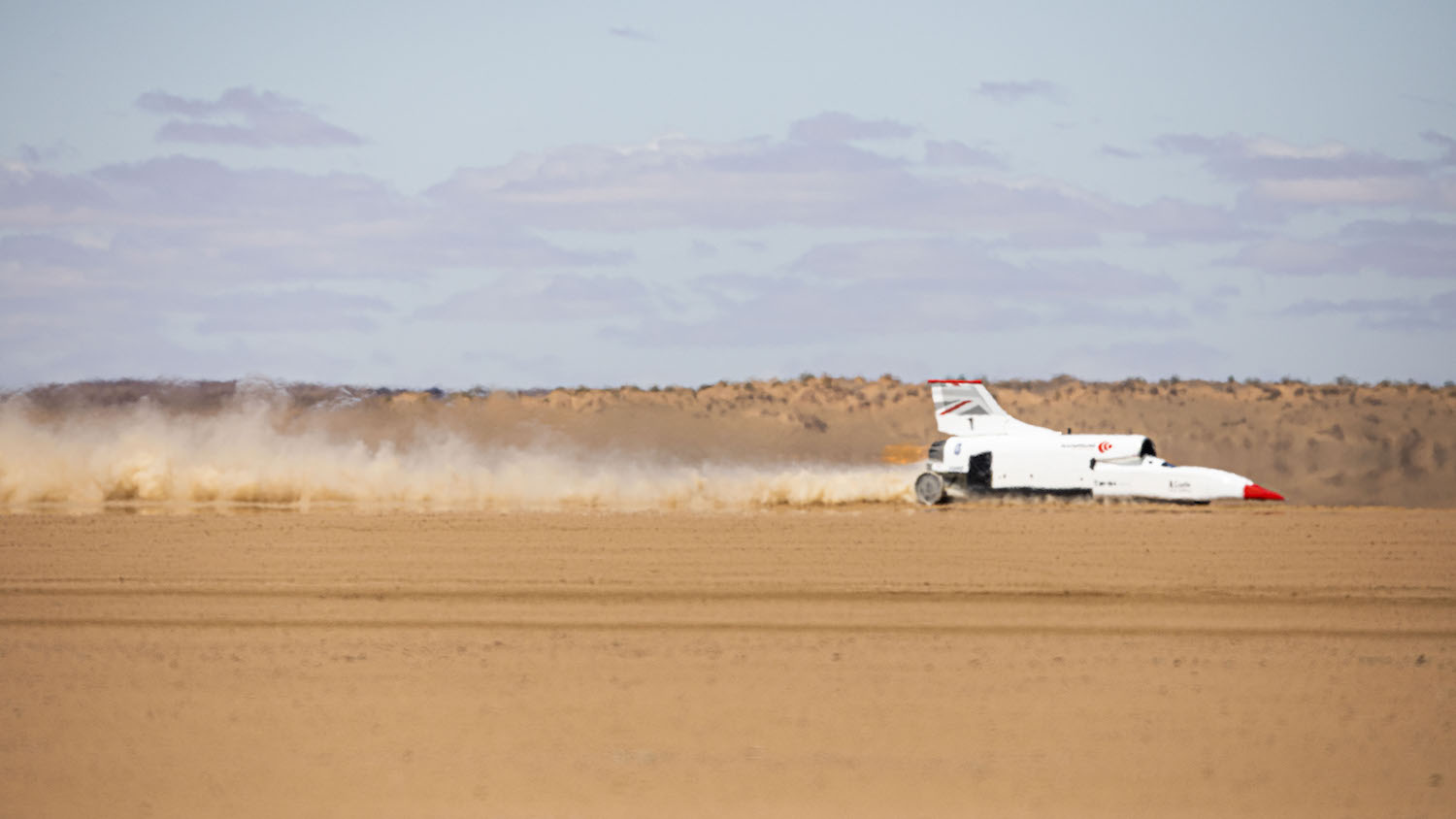 Bloodhound LSR Test South Africa