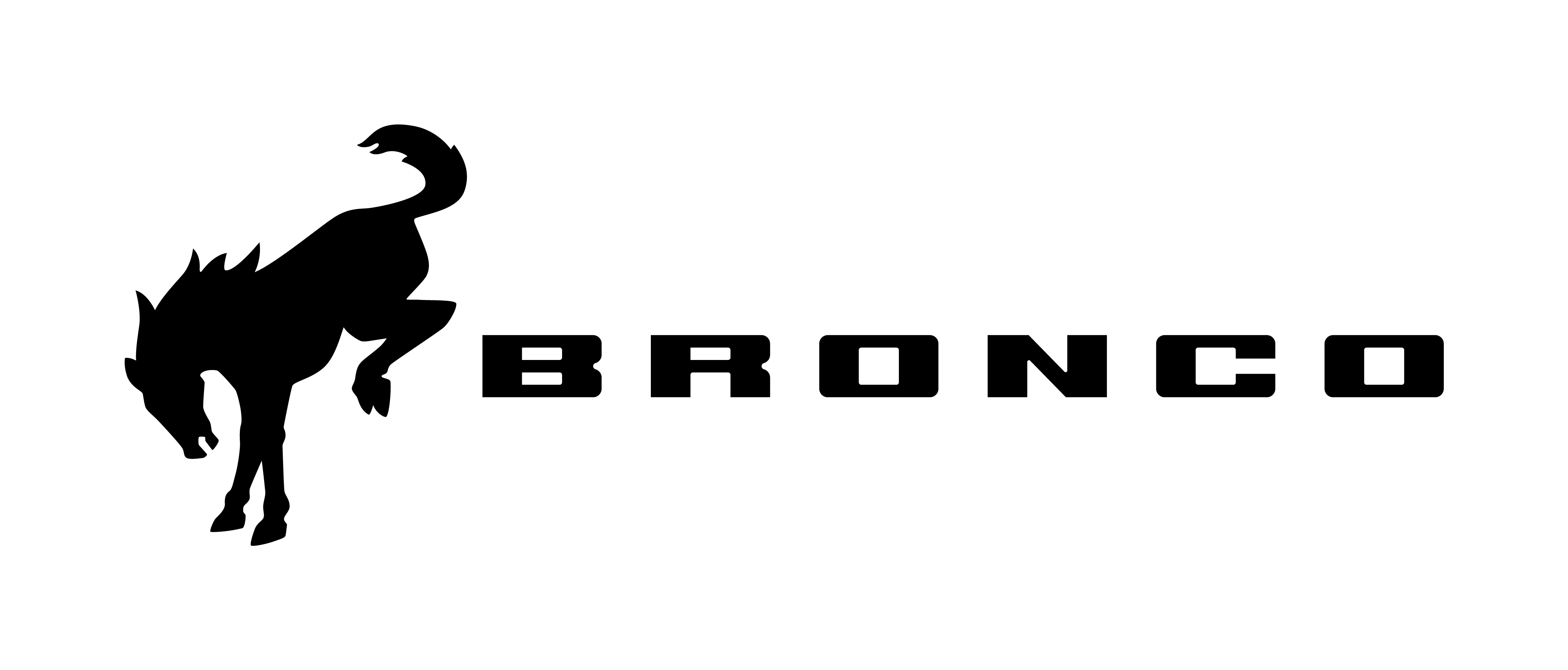 new ford bronco logo wide