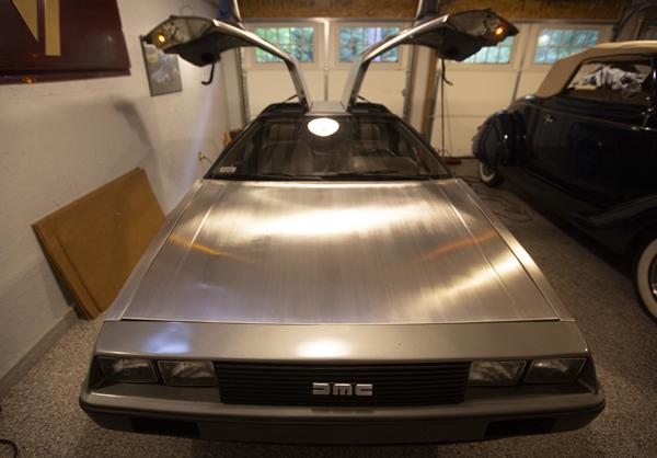 1982 DeLorean DMC12 and 1936 Ford Convertible