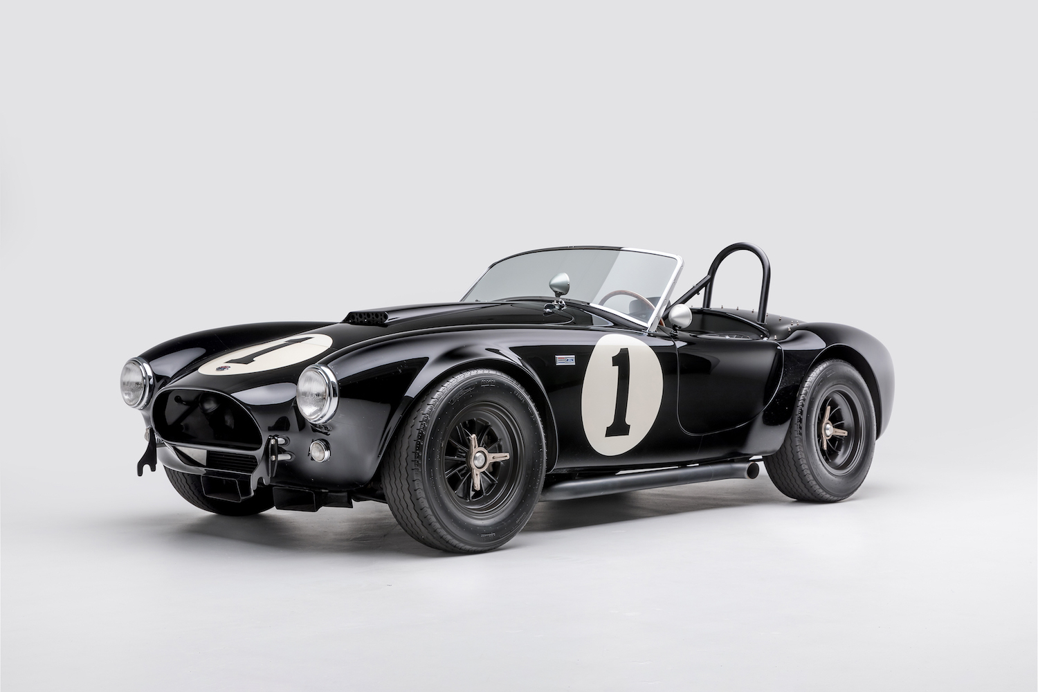 Shelby Cobra (serial no. 1, a 1962 example finished in black)