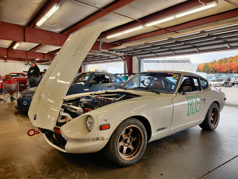 Datsun Front Three Quarter Open Hood
