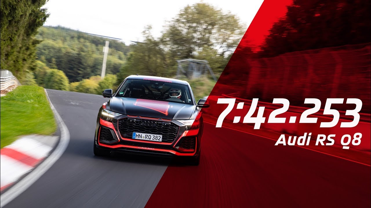 The Audi RS Q8 just broke the Nürburgring lap record for SUVs thumbnail