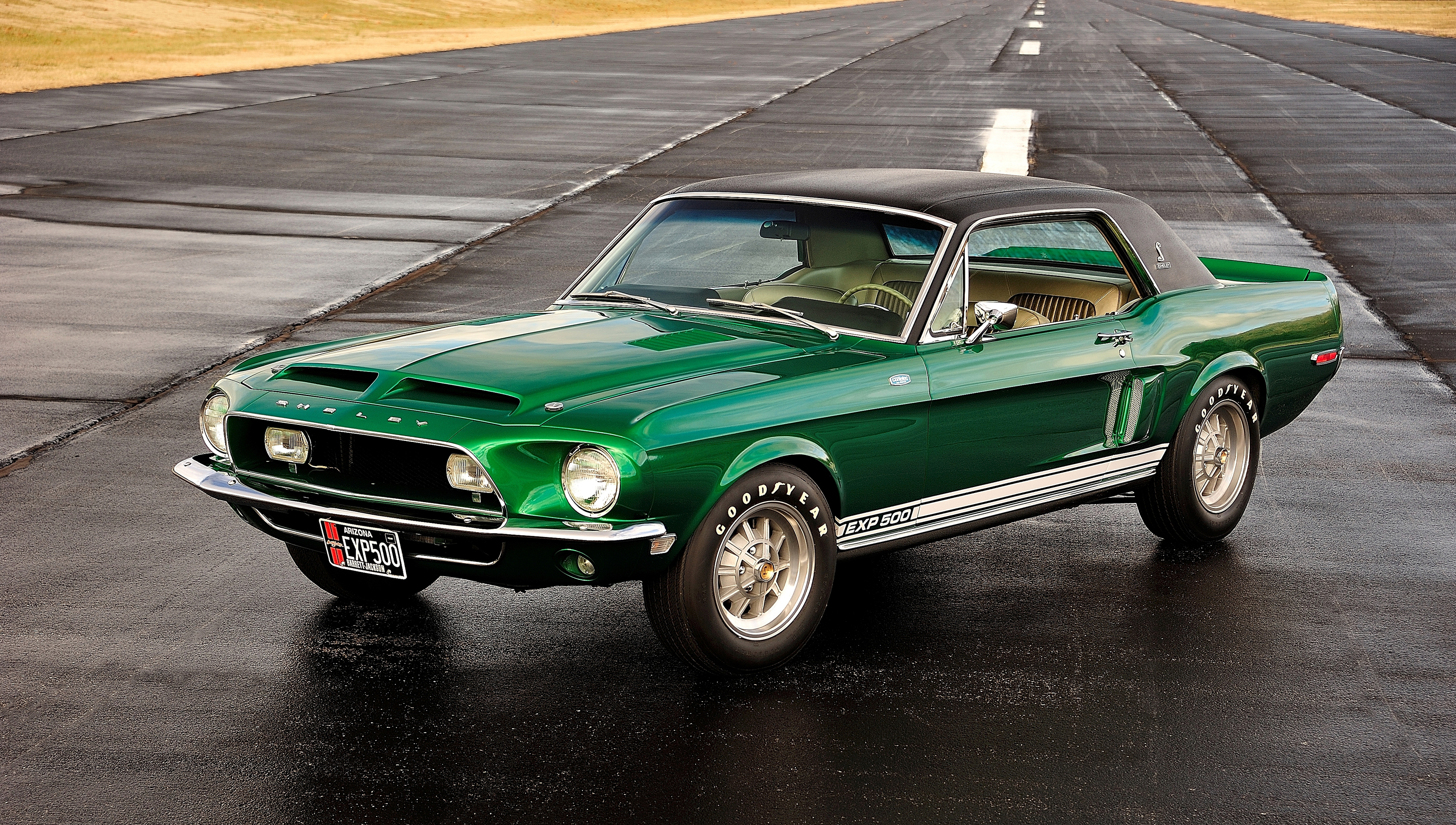 """The 1968 """"Green Hornet"""" Mustang prototype is freshly restored to Shelby-spec thumbnail"""