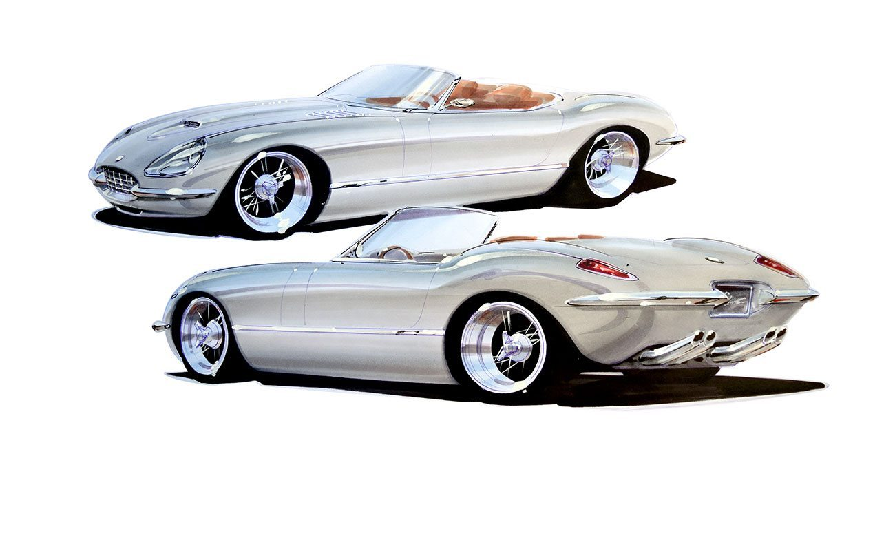 Chip Foose E-Type Drawing