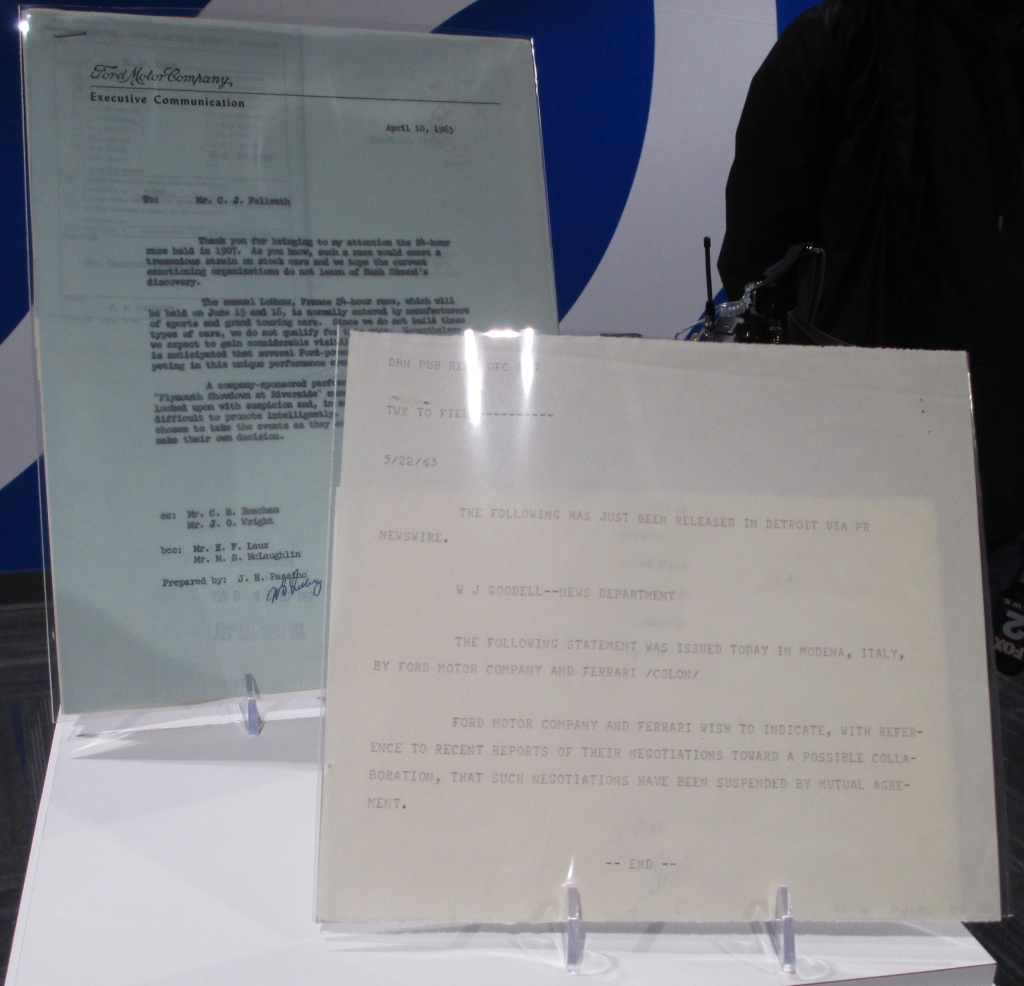 Ford vs Ferrari Paperwork