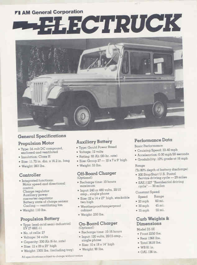 AMC Jeep Electruck Brochure