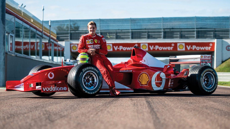 Mick Schumacher driving his dad's winning Ferrari will melt your heart thumbnail