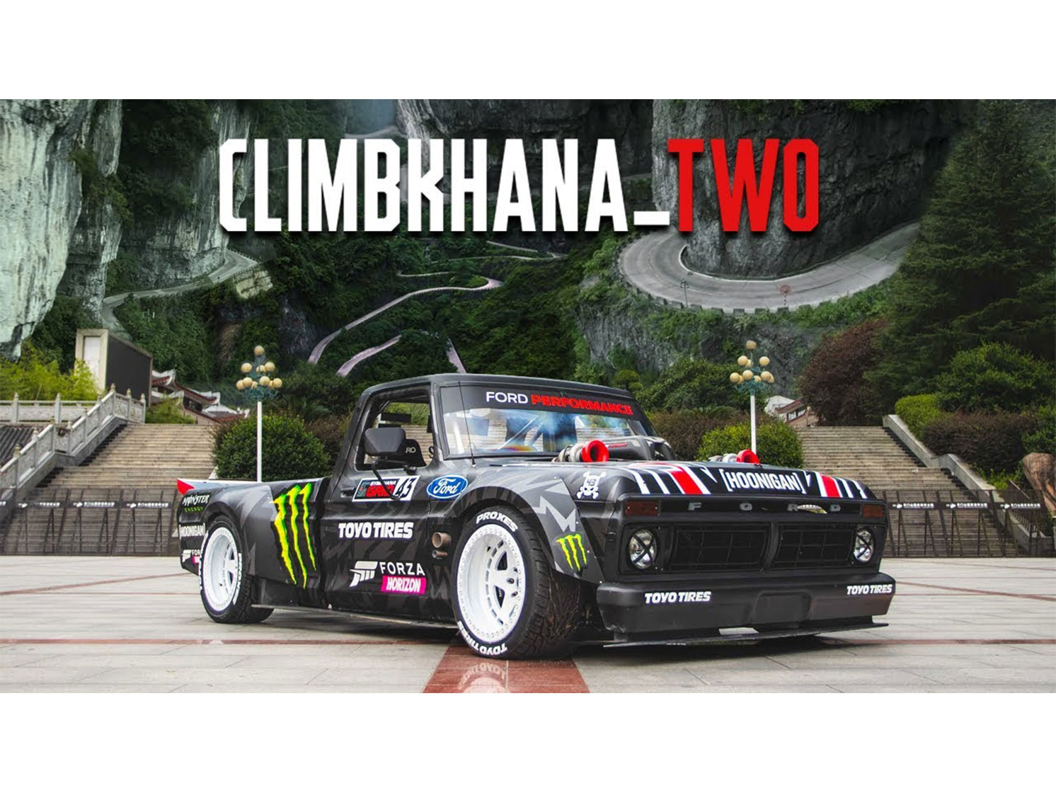 Ken Block tackles China's Tianmen Mountain in Climbkhana Two thumbnail