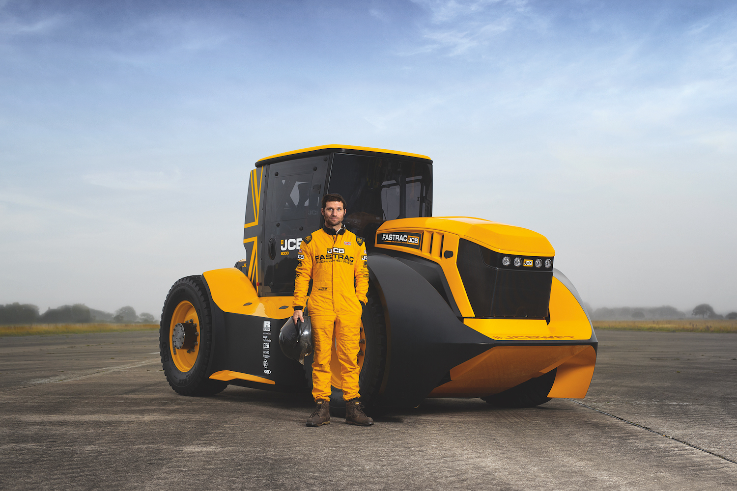 JCB turbo tractor and driver