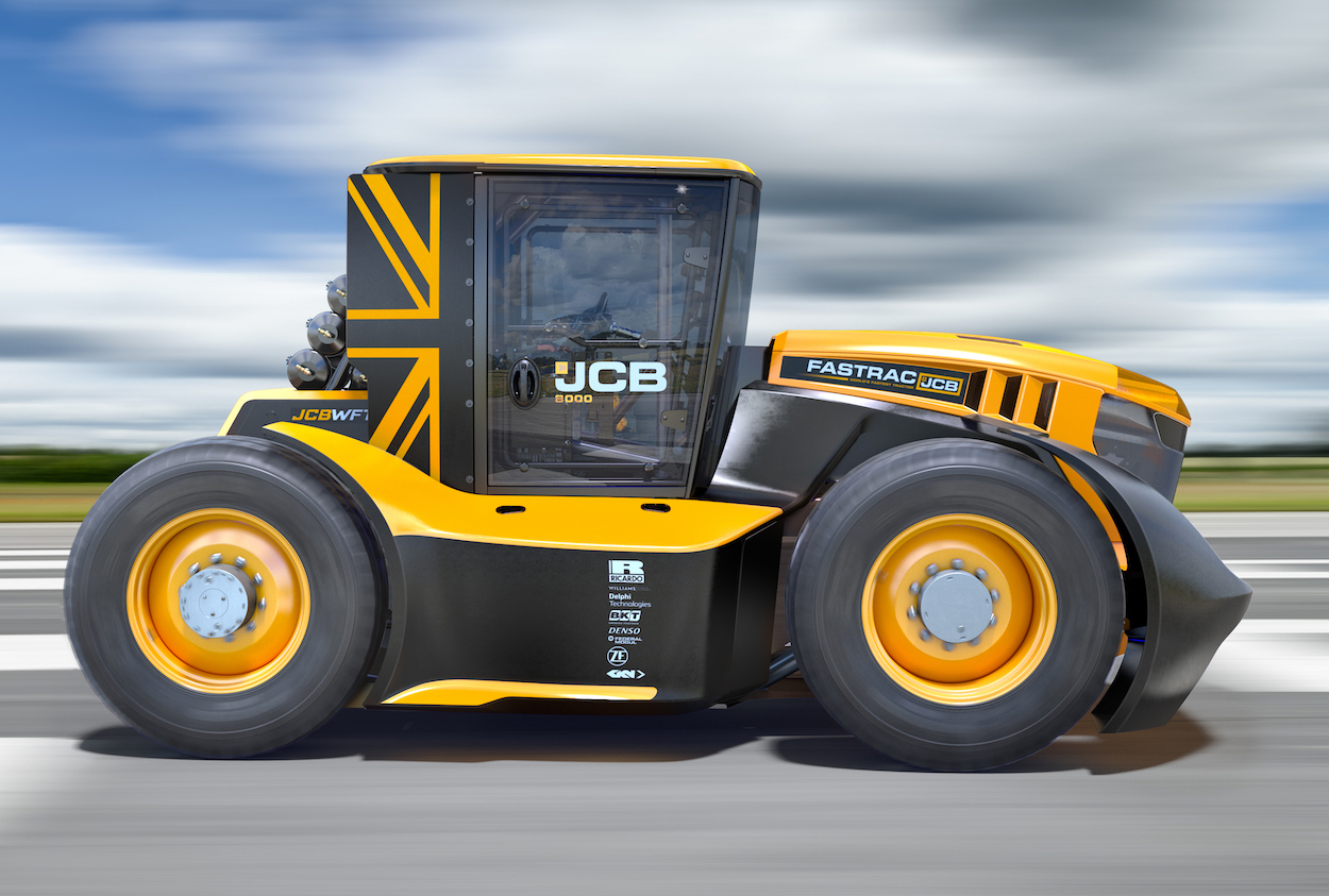 JCB's Williams-boosted tractor does 135 mph now thumbnail