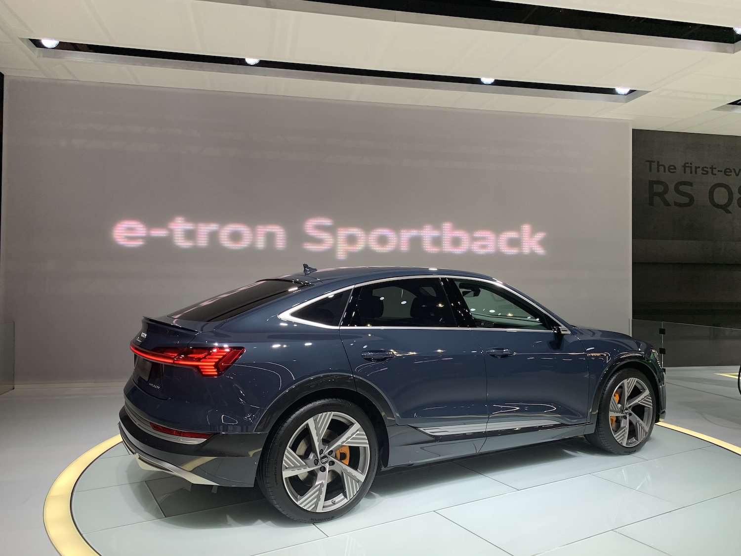 Audi etron sportback side profile
