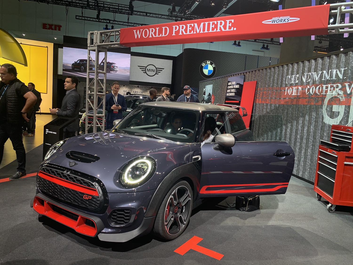john cooper works gp front three quarter world premiere la auto show