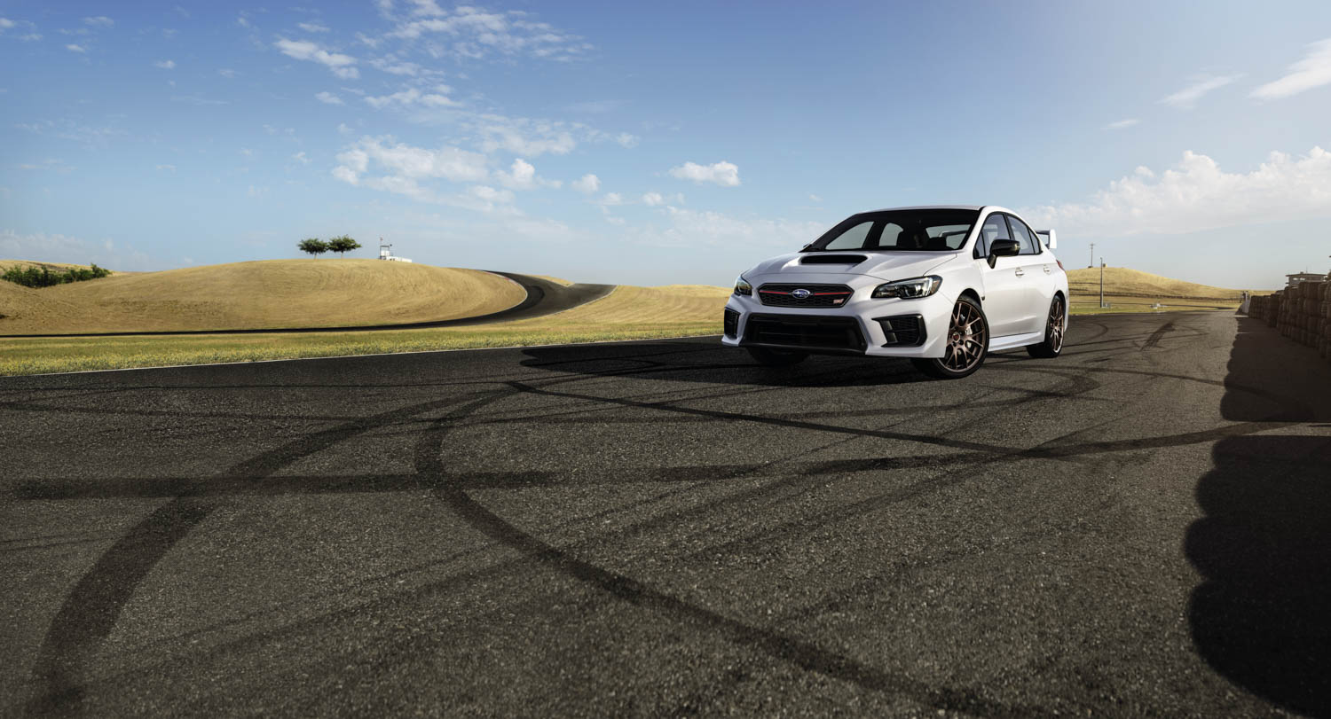 2020 Subaru STI Series.White