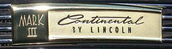 continental mark three badge
