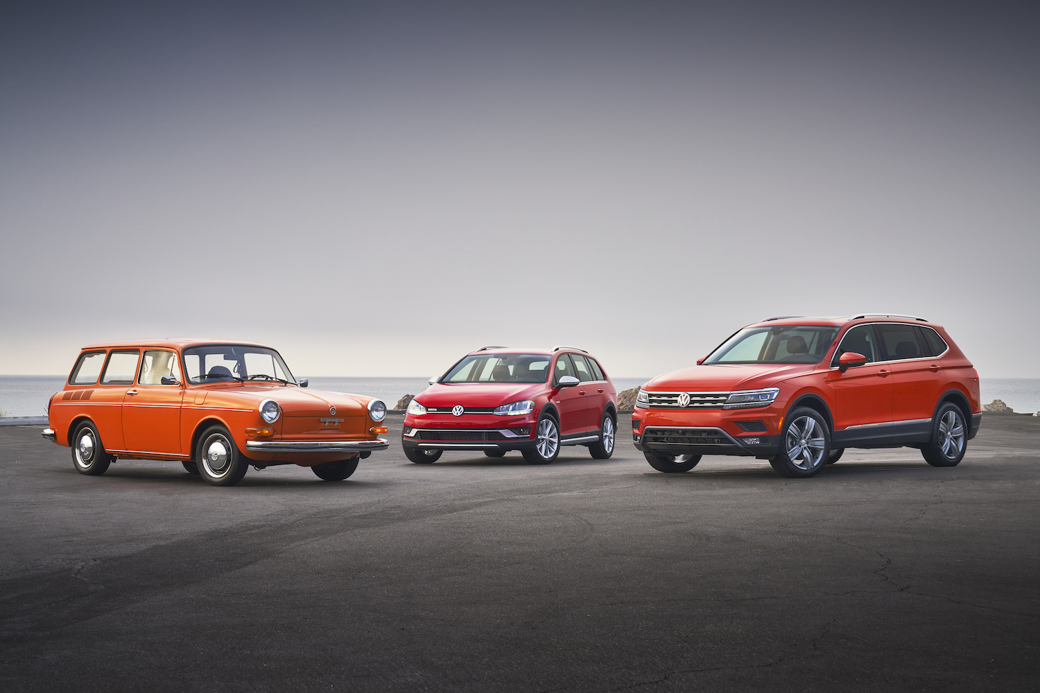 1973 Squareback Wagon with 2019 Golf Attack and 2019 Tiguan