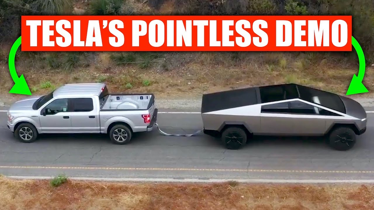 The math behind the Tesla Cybertruck dragging a Ford F-150 tells a different story thumbnail