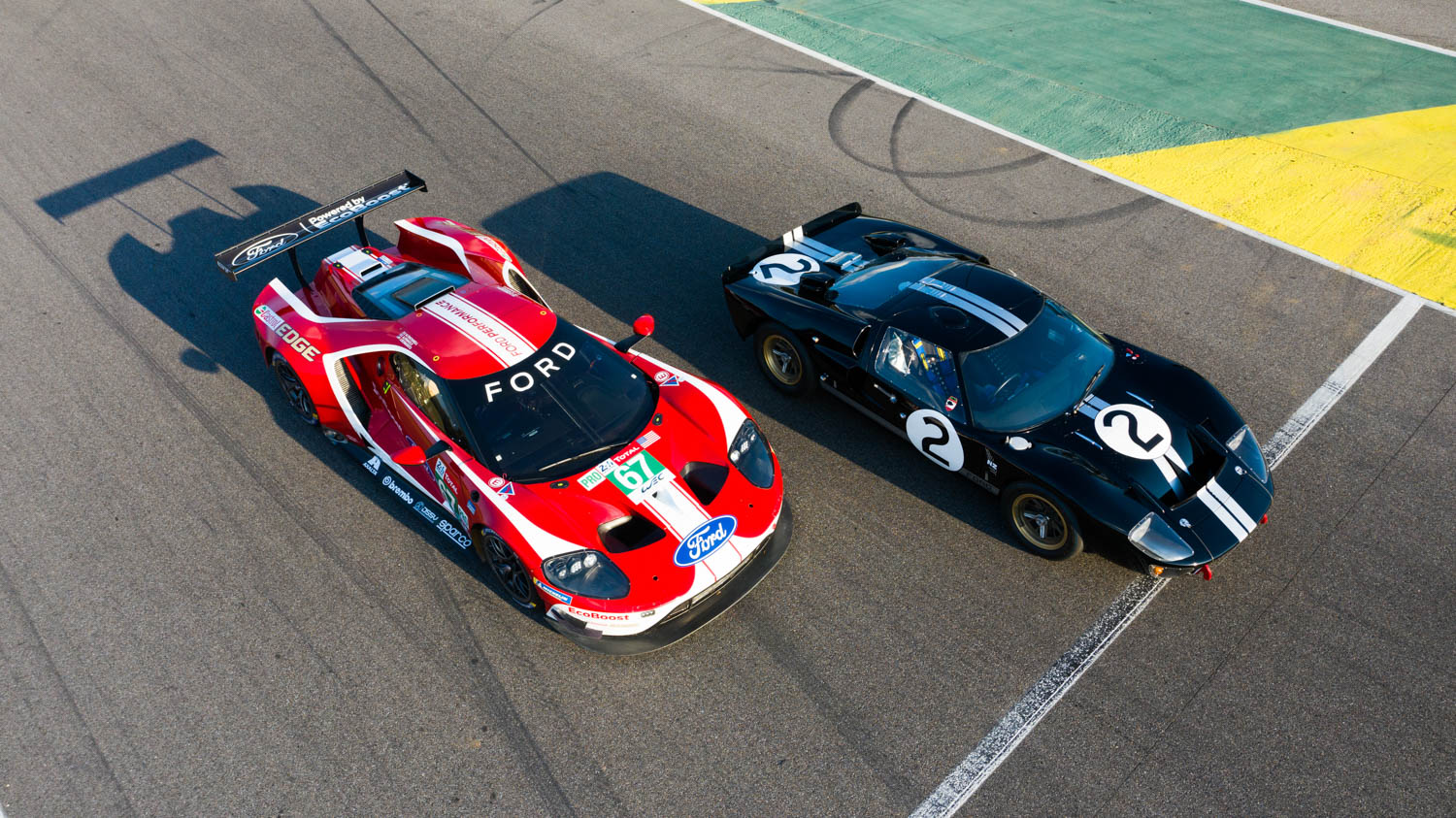 Driving The Ford Gts That Won Le Mans 50 Years Apart Unites