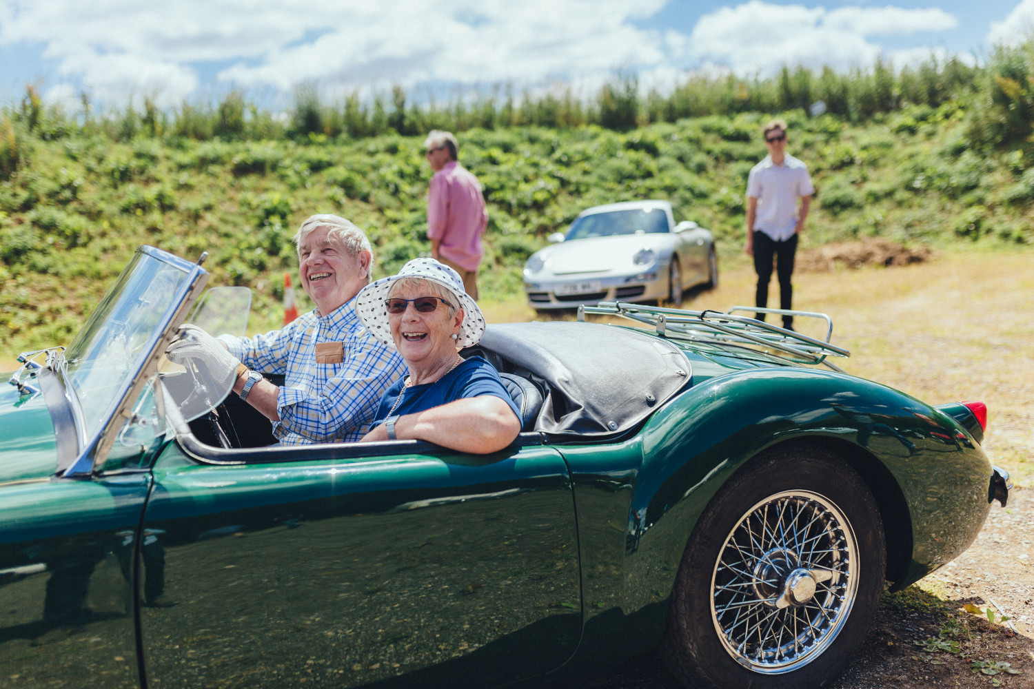 coffee classics event smiling motorists