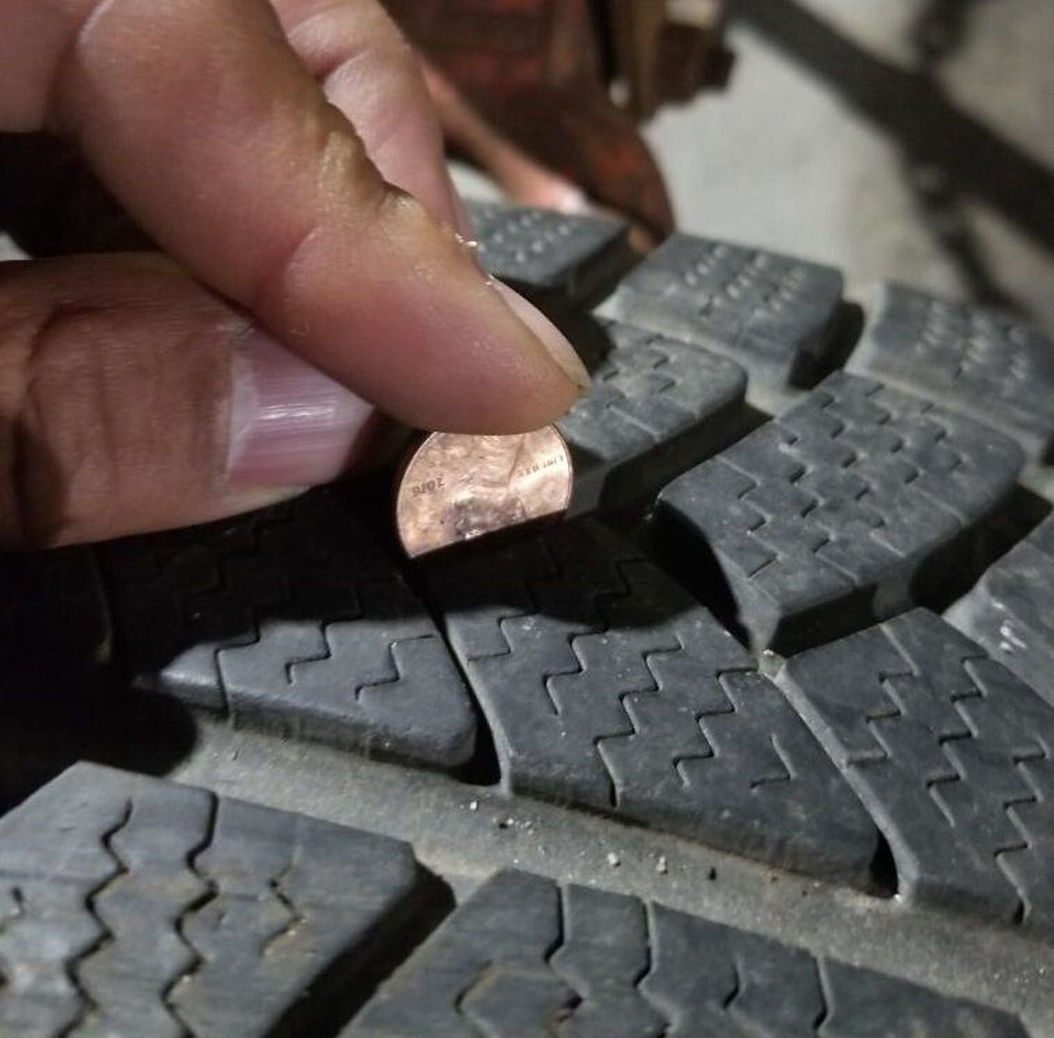tire tread penny test problem