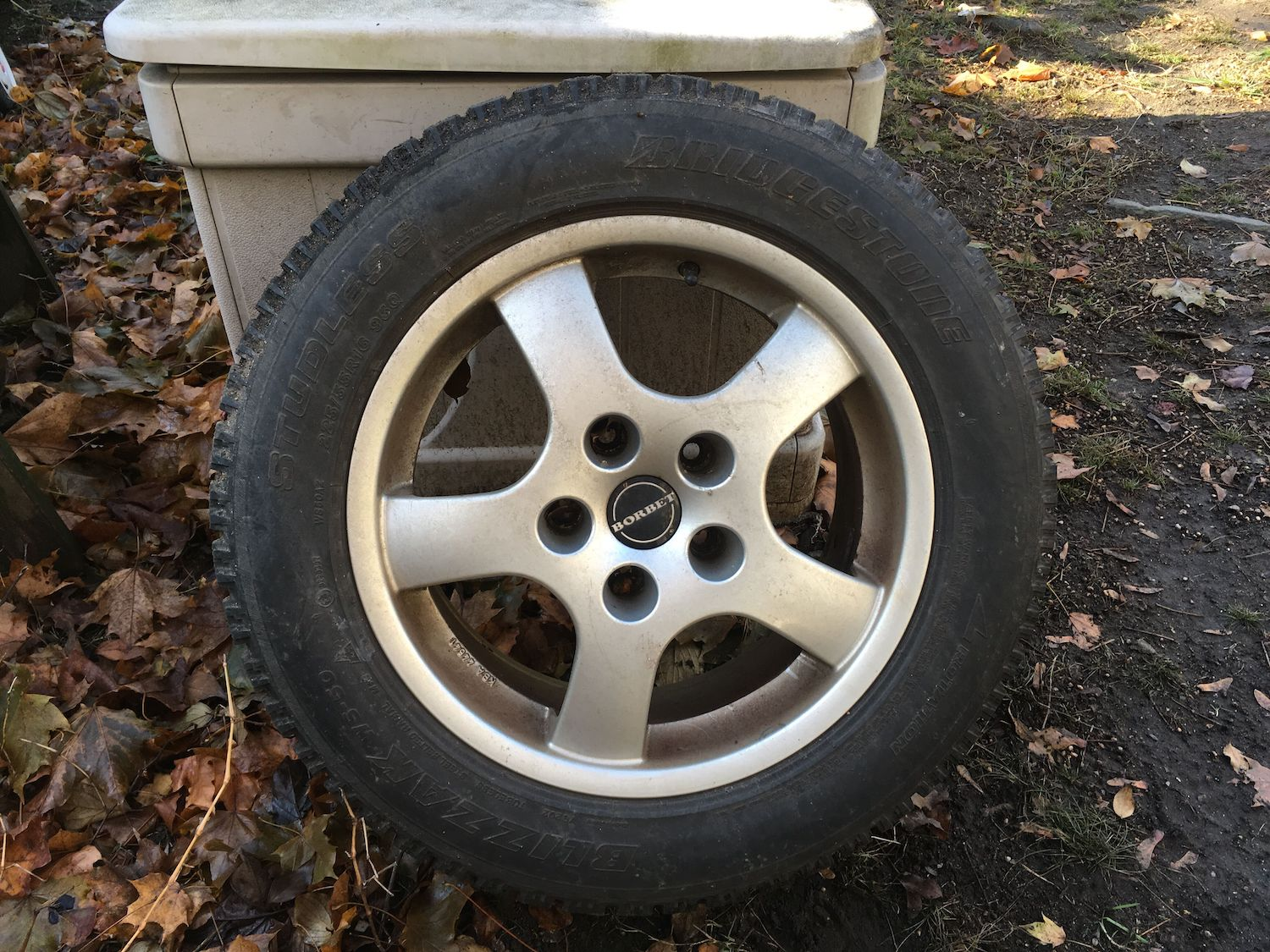 borbet wheels mounted with winter tires