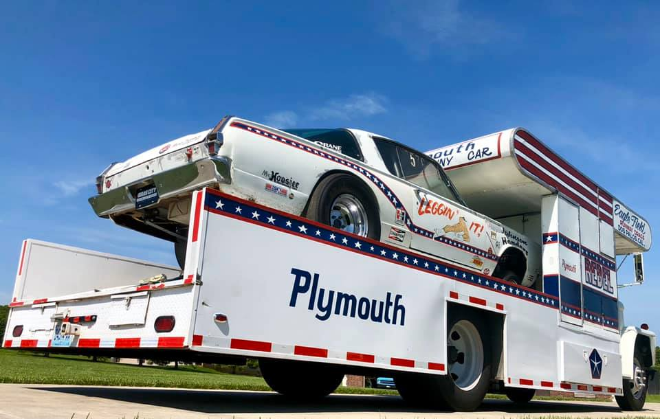 1965 Dodge C500 Hauler with 1966 Cuda Gasser