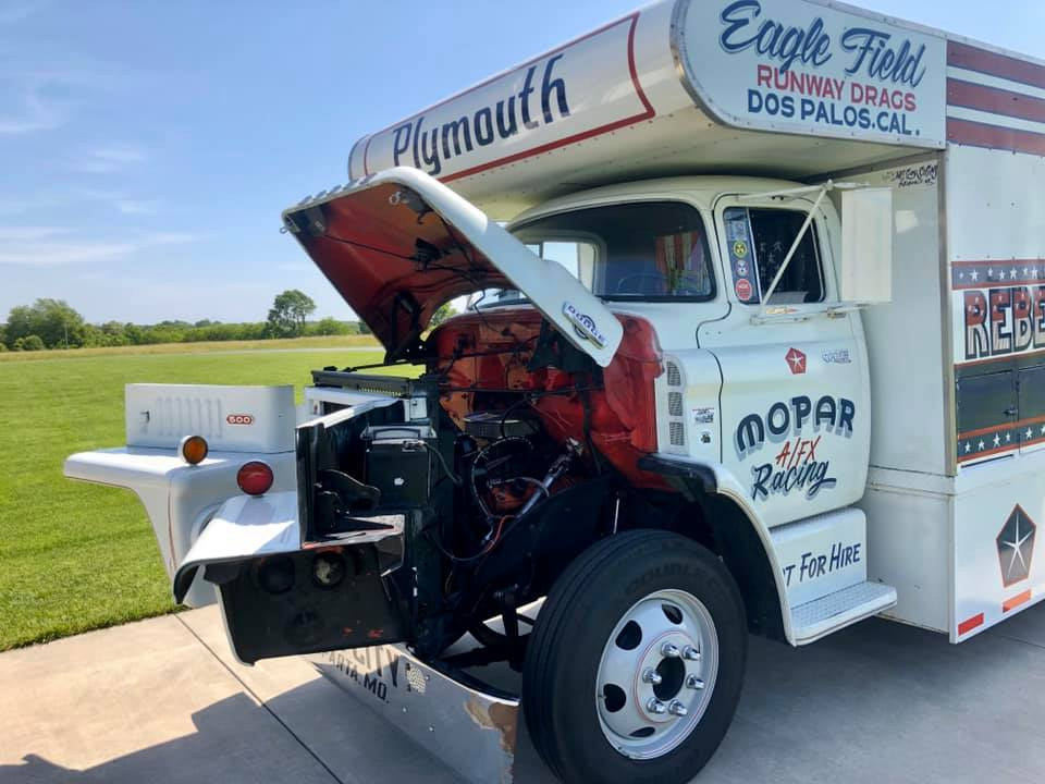 1965 Dodge C500 Hauler open hood