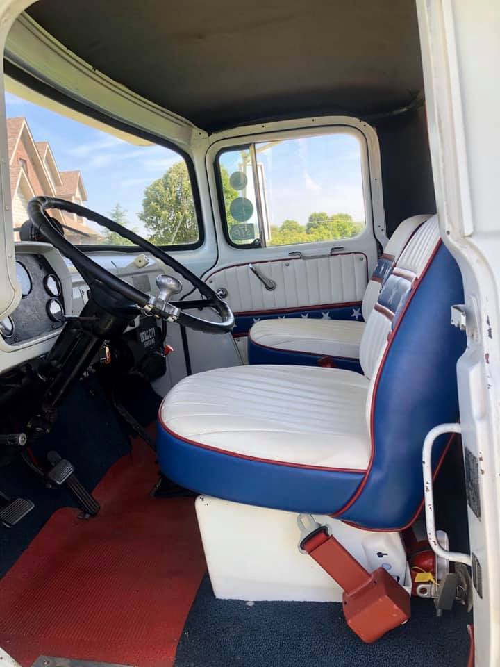 1965 Dodge C500 Hauler interior seats