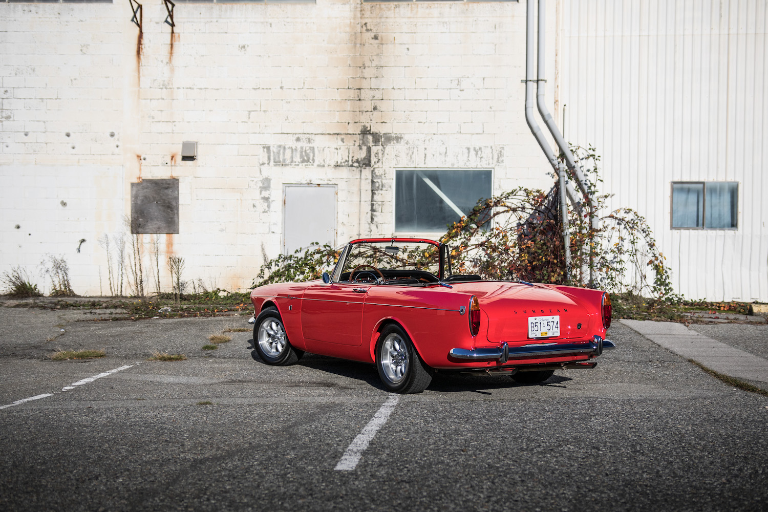 red sunbeam tiger rear three-quarter