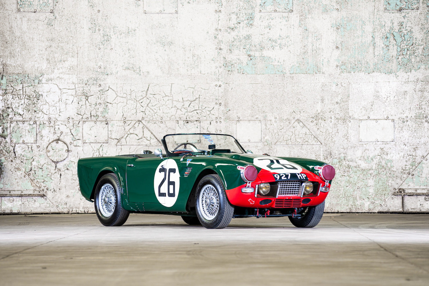 This gorgeous works Triumph TRS raced at Le Mans in 1960 and 1961