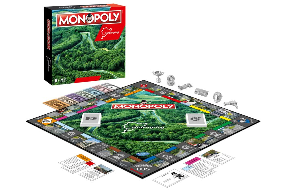 New Nürburgring-themed Monopoly makes do with 4 corners, not 154