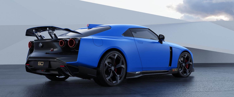 Italdesign GT-R50 blue rendering