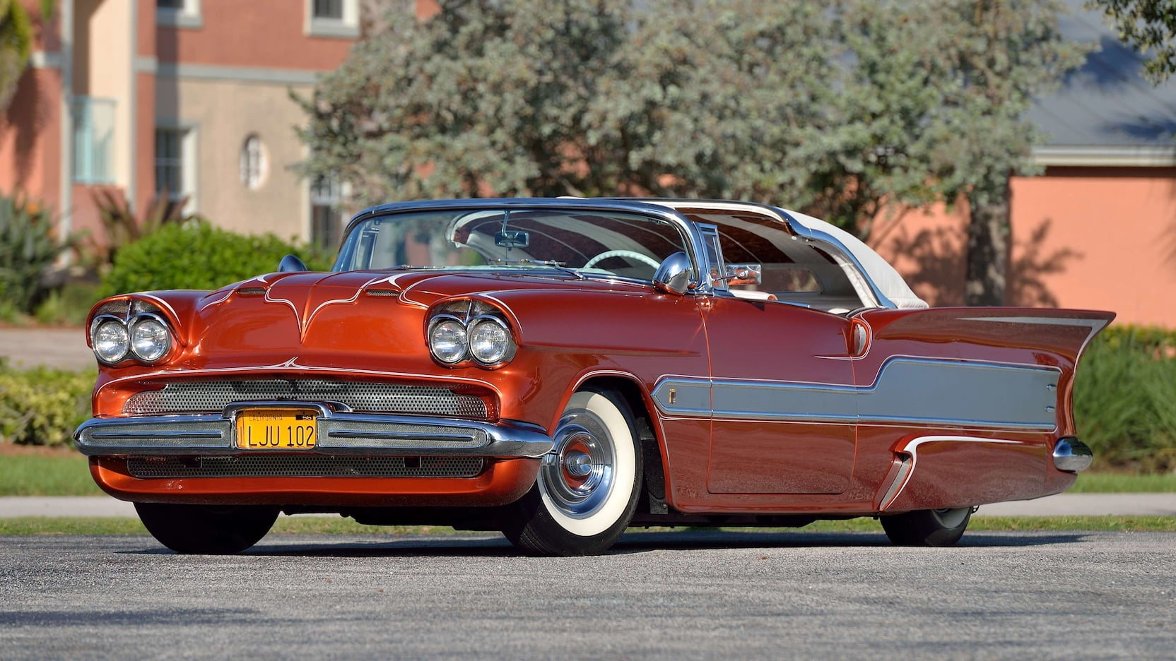 This Barris-built 1955 Chevy Aztec is over-the-top absurd—and up for grabs