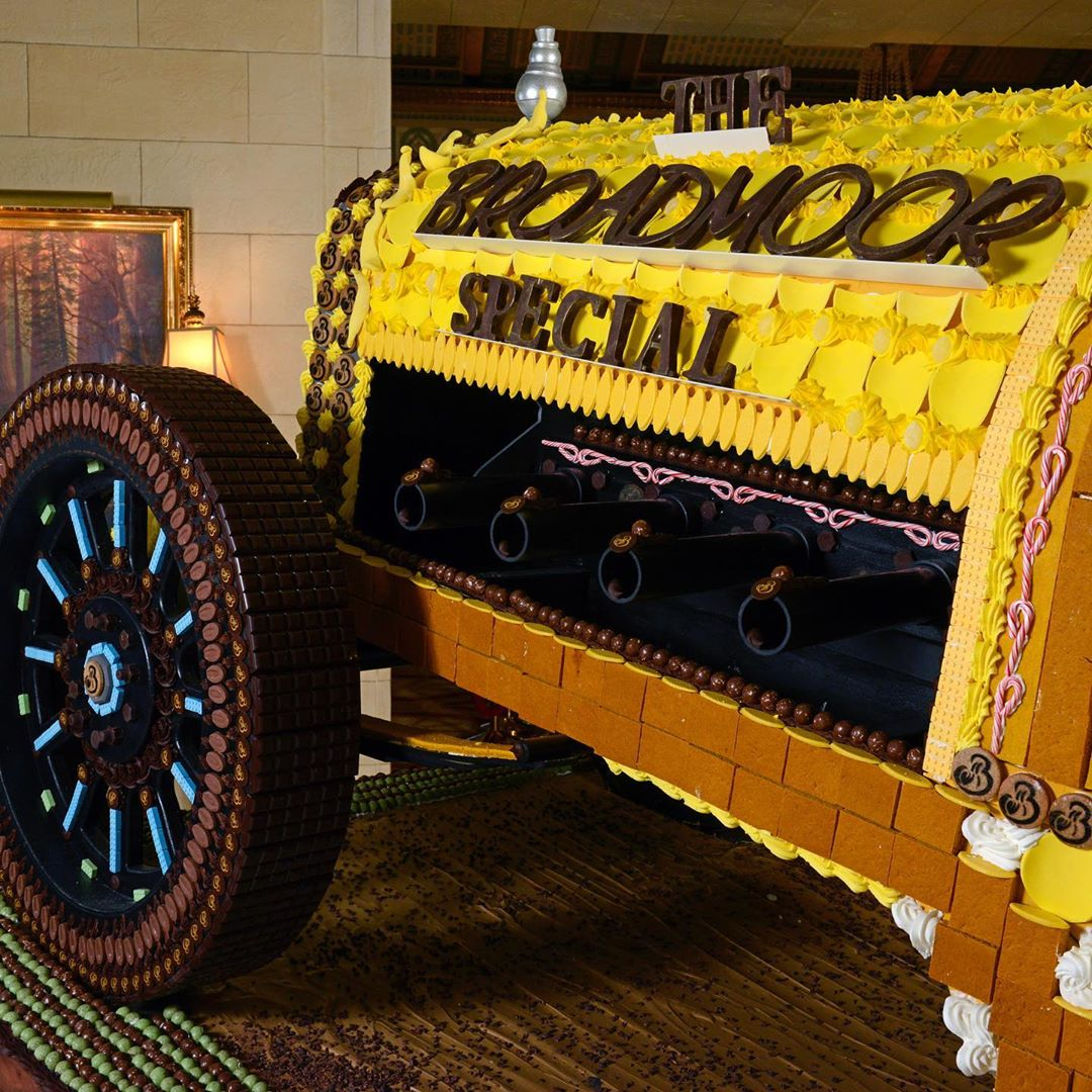 broadmoor special yellow devil gingerbread display
