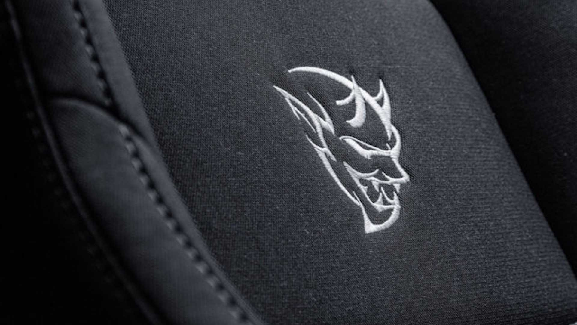 ralph gilles dodge demon seat decal detail