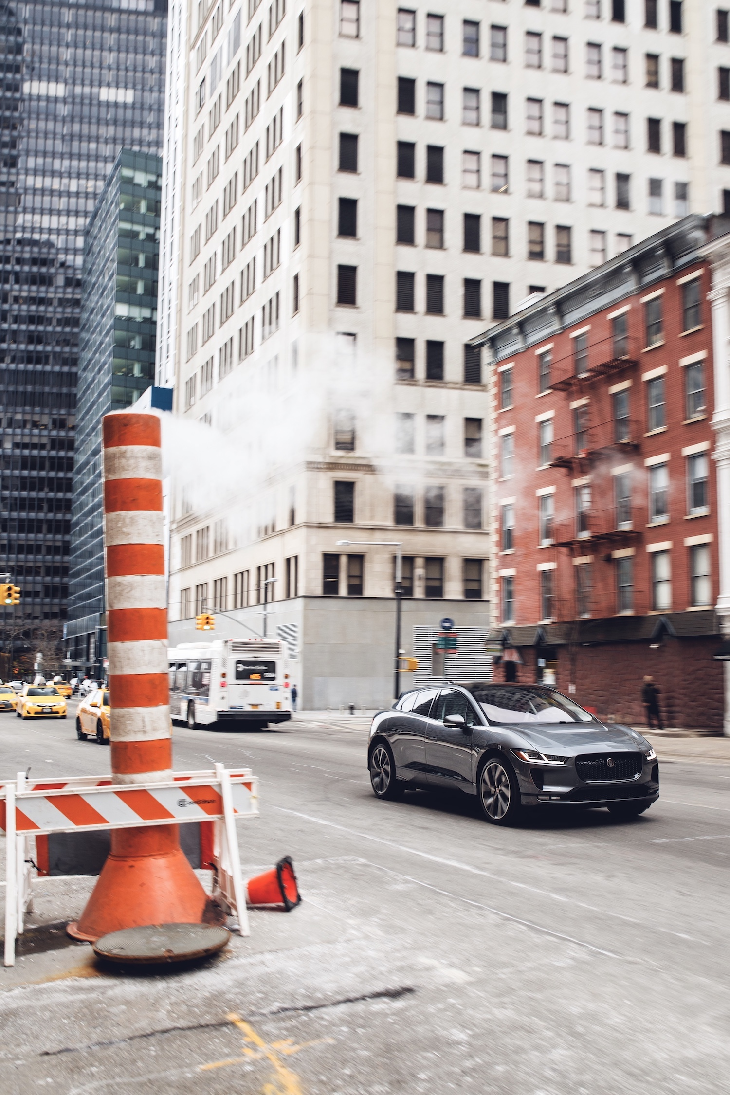 I-Pace front three-quarter in new york city