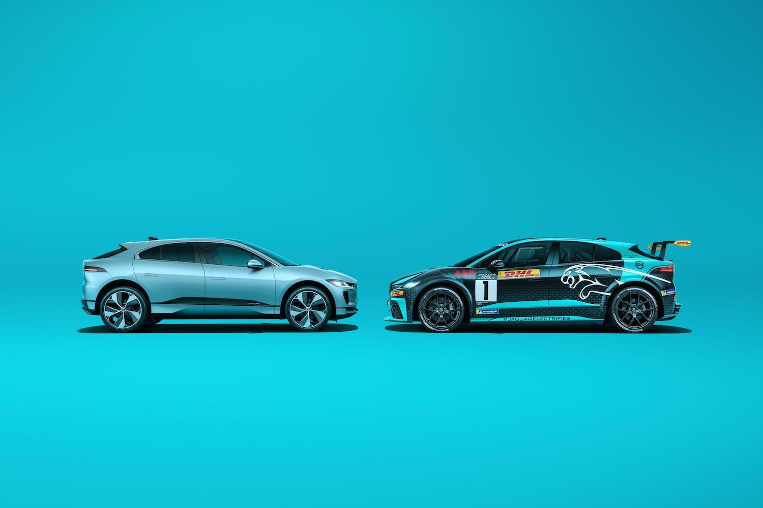 I-Pace road track version side-view head to head