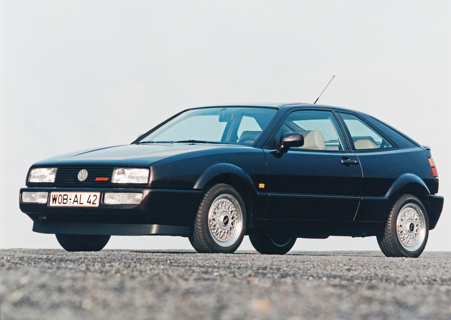 vw corrado hatchback front three-quarter
