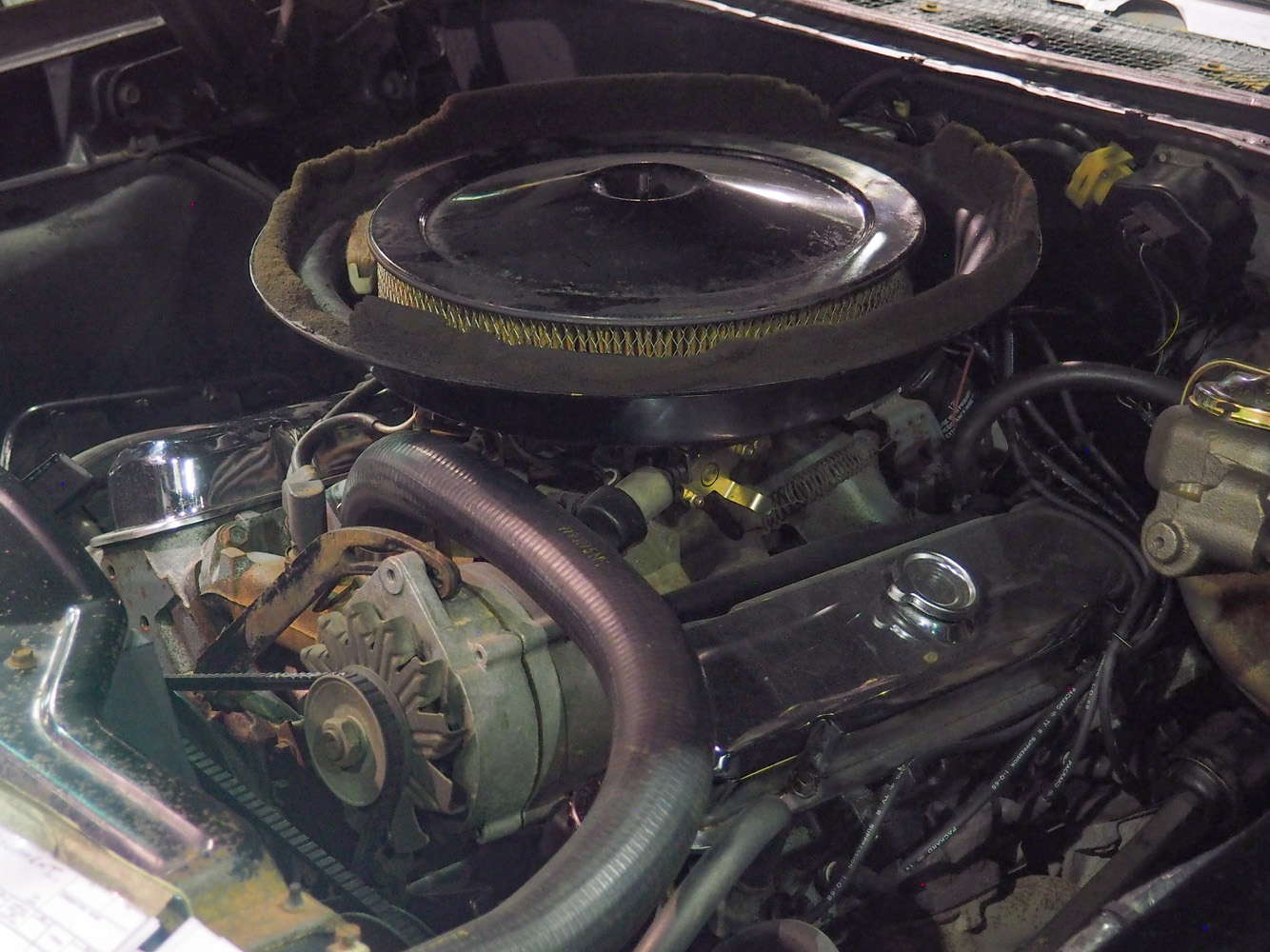 1968 Pontiac Ram Air GTO engine