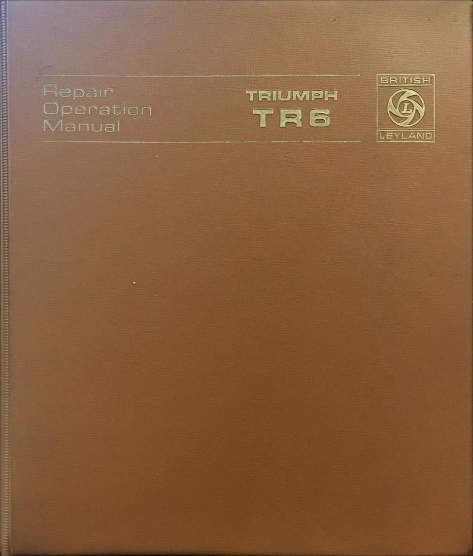 Triumph tr-6 repair manual cover