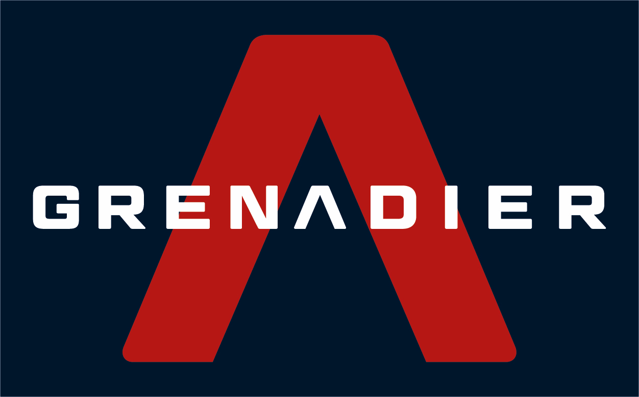 red white blue grenadier logo