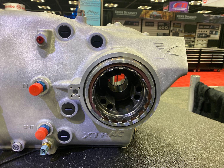 xtrac transaxle on display