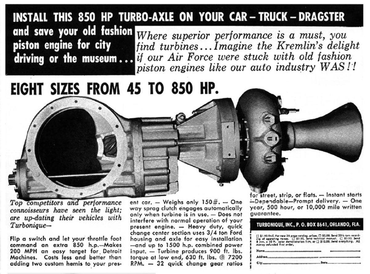Turbonique advertisement