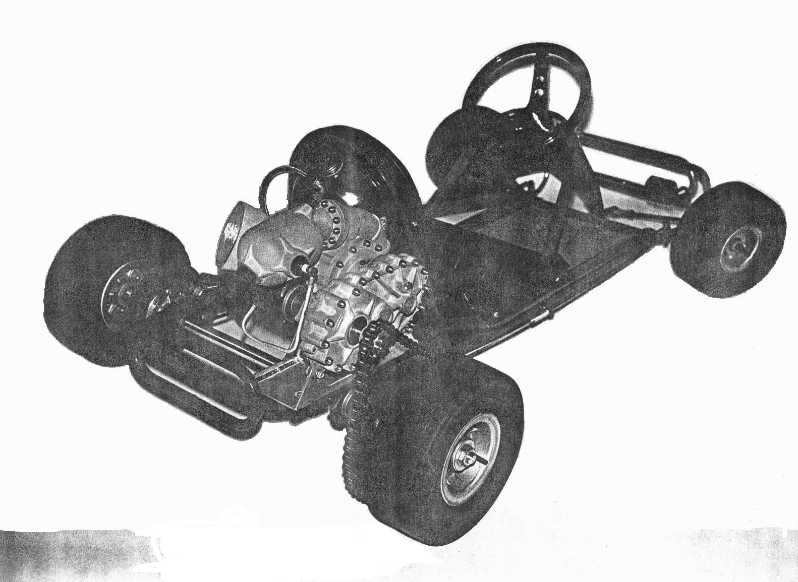 Turbonique on a go-kart