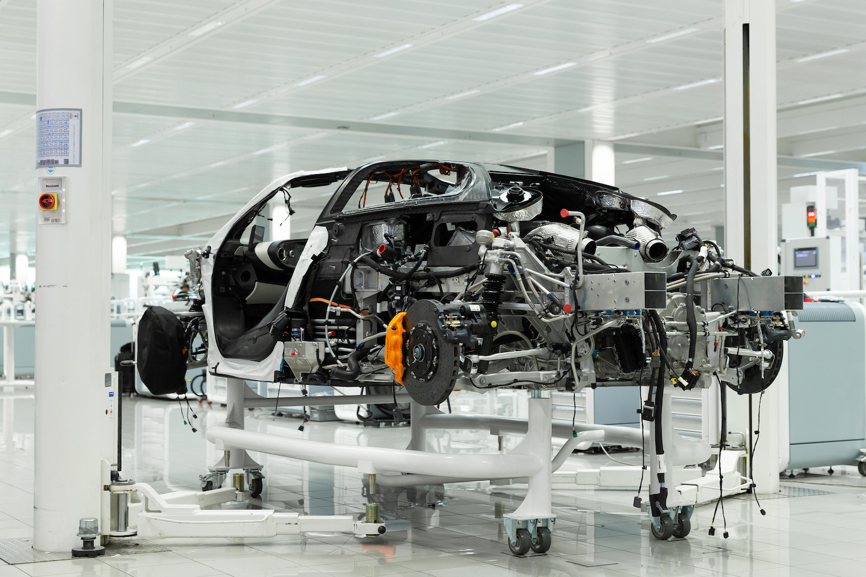 disassembled speedtail car rear three-quarter