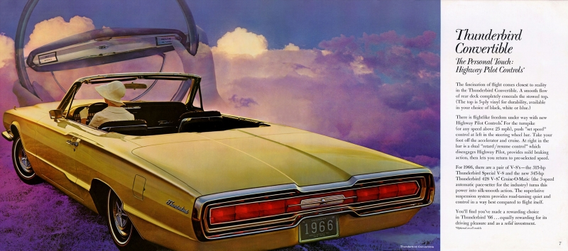 rear three-quarter thunderbird convertible ad
