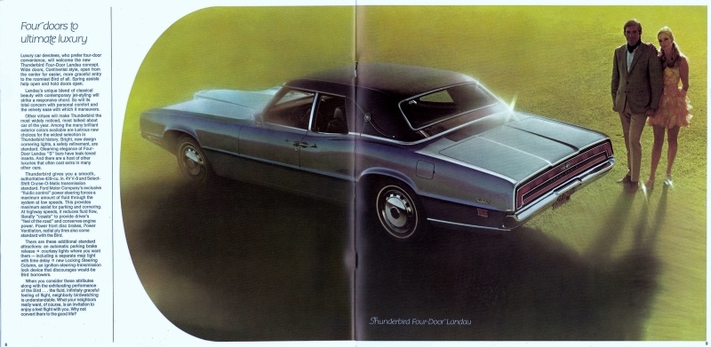thunderbird ad rear three-quarter