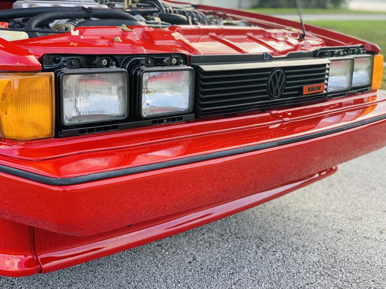 red 1986.5 Volkswagen Scirocco 16V front closeup