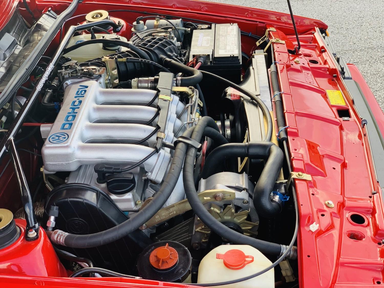 red 1986.5 Volkswagen Scirocco 16V engine