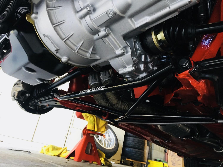red 1986.5 Volkswagen Scirocco 16V rear differential