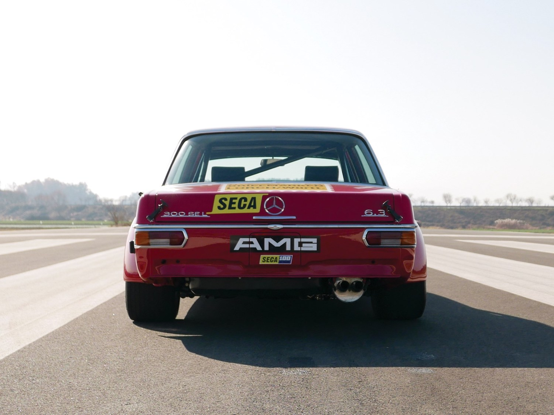 1969 Mercedes-Benz 300 SEL 6.3 'Red Pig' Replica rear